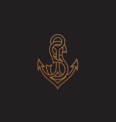 monogram letter s vector image