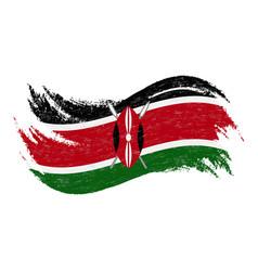 national flag of kenya designed using brush vector image