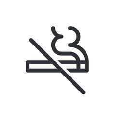 No smoking icon cigarette smoke forbidden kein vector