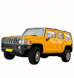 off-road SUV vector image