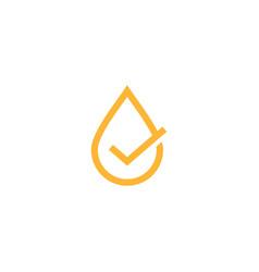 oil drop check logo icon vector image