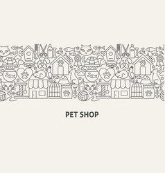 Pet shop banner concept vector