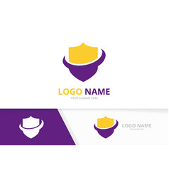 premium shield logotype design business secure vector image