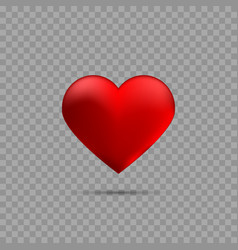 red heart with shadow vector image