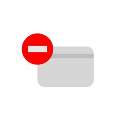 remove credit card icon vector image