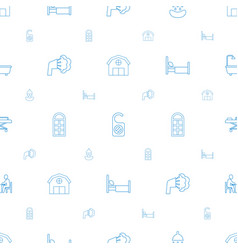 Room icons pattern seamless white background vector