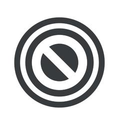 Round black NO sign vector