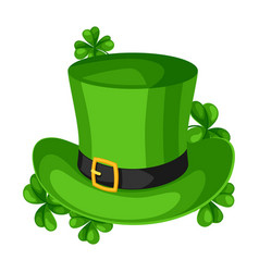 saint patricks day leprechaun hat vector image