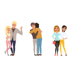 Set different families happy homosexual vector