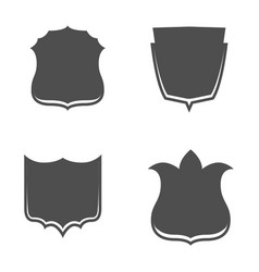 Shield emblems set in graphic style vector
