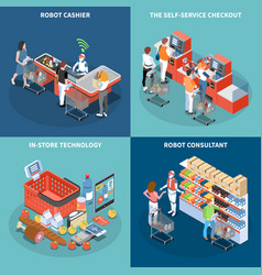 Shop technology 2x2 design concept vector