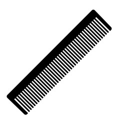 silhouette a comb vector image