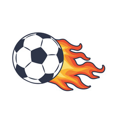 Soccer ball and fire trace vector