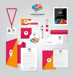 Social Relationship Corporate Identity Poster vector