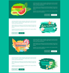 Summer sale seasonal offer vector