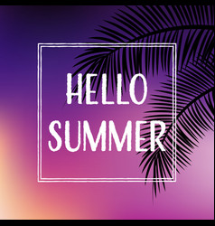 Summer tropical backgrounds set with palms and vector