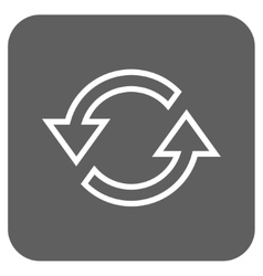 Sync Arrows Flat Squared Icon vector