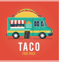 taco food truck vector image