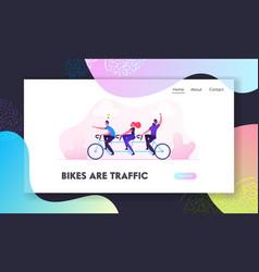 team work business success website landing page vector image