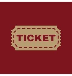 The ticket icon ticket symbol flat vector