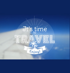 travel card blurred background vector image