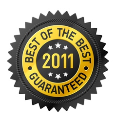 best of the best 2011 label vector image