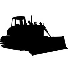 bulldozer silhouette vector image