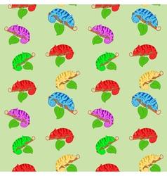 Color chameleons seamless pattern vector image vector image