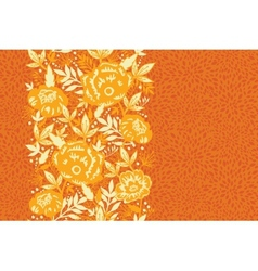 Fire flowers and leaves vertical seamless pattern vector image vector image