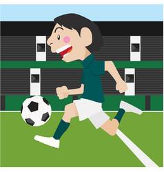 football soccer sport cartoon set vector image