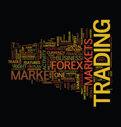 Forex find out if it s the right market for you vector