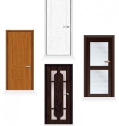 modern doors vector image