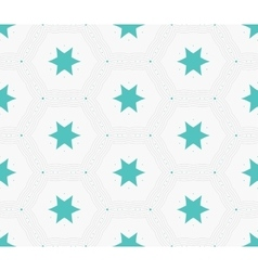 Modern stylish hexagon star texture Delicate vector image vector image