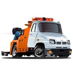 cartoon tow truck vector image