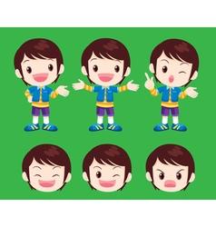 cute boy actions vector image