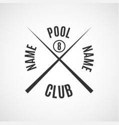 emblem billiard club vector image