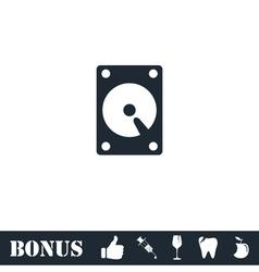 Hard drive icon flat vector