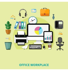 Office workplace composition vector