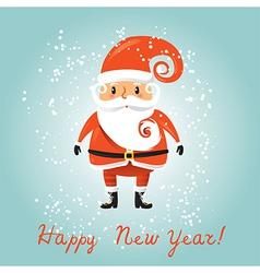 Santa Claus for retro christmas card vector image vector image
