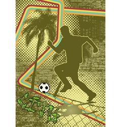 vintage urban grunge soccer vector image