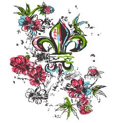 fleur de lis symbol vector image vector image
