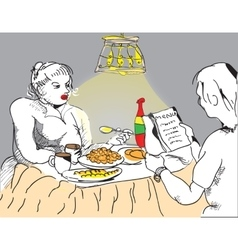 People Eating vector image