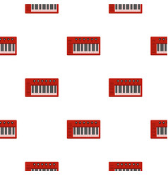 red synthesizer pattern seamless vector image