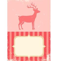 retro of christmas deer vector image vector image