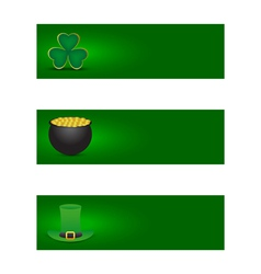 Set of St patricks day banners vector image