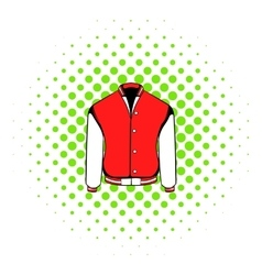 Sport jacket icon comics style vector image