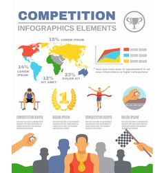 Sports competition infographics vector