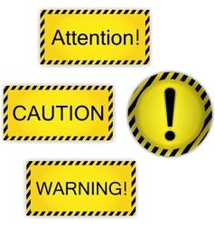 Warning attention caution vector
