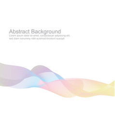 abstract colorful pastel wave style background vector image
