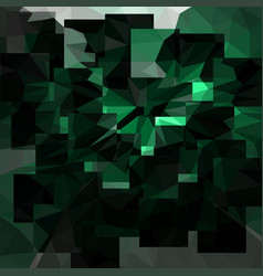 Abstract emerald background with triangles vector